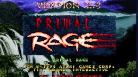 Primal Rage Conquered Lands Arcade Version