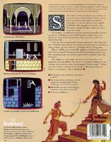 Prince of Persia Apple II Back Cover