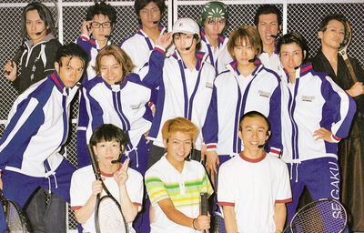 The first-generation cast of TeniMyu.