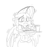 Fluttershy milk and cookies