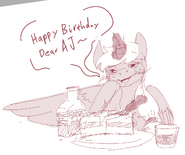 Applejack sad birthday