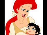 Ariel avec sa fille Mélody bébé