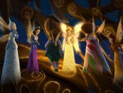 La Reine Clarion avec les ministres des quatre saisons et fée Marie.jpg