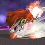 Kirby con la habilidad copiada de Roy