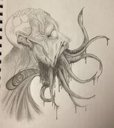 Tentacle mouth zombie wip8 by xkiwiikillerx-d4nq6vt