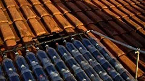 Aquecedor Solar reciclavel com garrafa pet