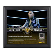 Aleister Black NXT TakeOver Orlando 15 x 17 Framed Plaque w Ring Canvas