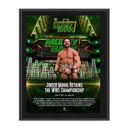 Jinder Mahal Money in the Bank 2017 10 x 13 Commemorative Photo Plaque