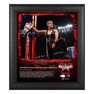 Rhea Ripley WrestleMania 37 15x17 Commemorative Plaque