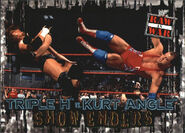 2001 WWF RAW Is War (Fleer) Triple H vs. Kurt Angle 92