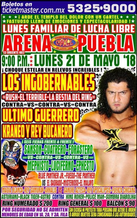 CMLL Lunes Arena Puebla (May 21, 2018)