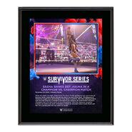 Sasha Banks Survivor Series 2020 10 x 13 Commemorative Plaque