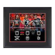 The Shield Reunites 16 x 20 Framed Plaque w 3 Worn T-Shirts