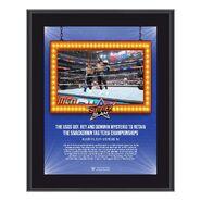 The Usos SummerSlam 2021 10x13 Commemorative Plaque