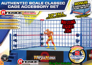 Classic Blue Steel Cage Playset w WrestleMania 2 & SummerSlam Ring Skirts