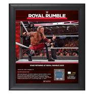 Edge Returns Royal Rumble 2020 15x17 Limited Edition Plaque
