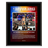 Adam Cole Survivor Series 2019 10x13 Commemorative Plaque
