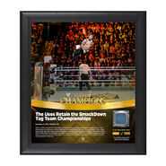 The Usos Clash of Champions 2017 15 x 17 Framed Plaque w Ring Canvas