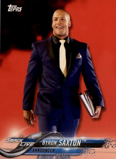2018 WWE Wrestling Cards (Topps) Byron Saxton (No.19)