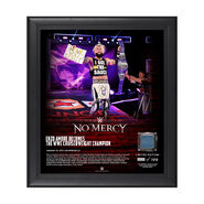 Enzo Amore No Mercy 2017 15 x 17 Framed Plaque w Ring Canvas