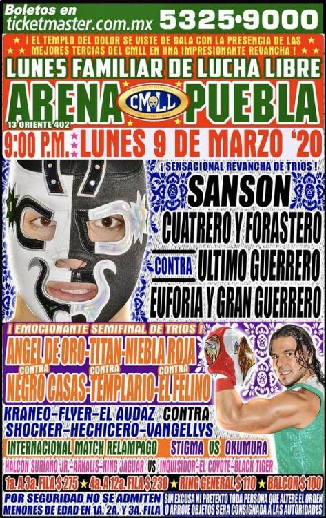 CMLL Lunes Arena Puebla (March 9, 2020)