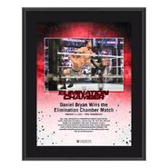 Daniel Bryan Elimination Chamber 2021 10x13 Commemorative Plaque