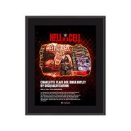 Rhea Ripley Hell in A Cell 2021 10 x 13 Commemorative Plaque