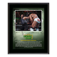 Roman Reigns Money in The Bank 2018 10 x 13 Plaque