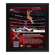 Bayley Extreme Rules 2019 15 x 17 Framed Plaque w Ring Canvas