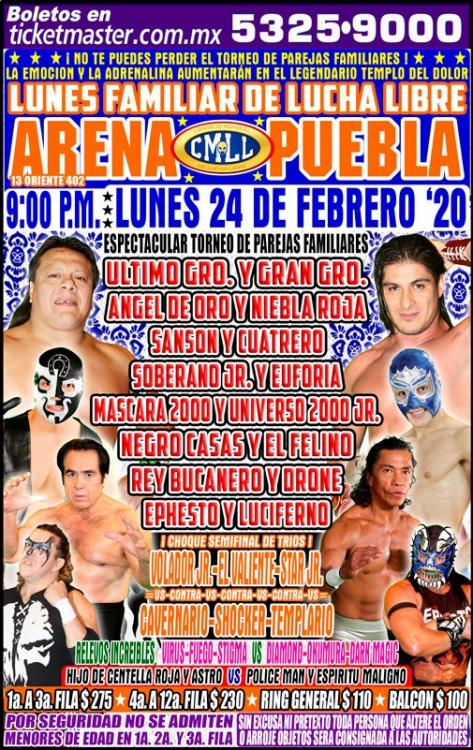 CMLL Lunes Arena Puebla (February 24, 2020)