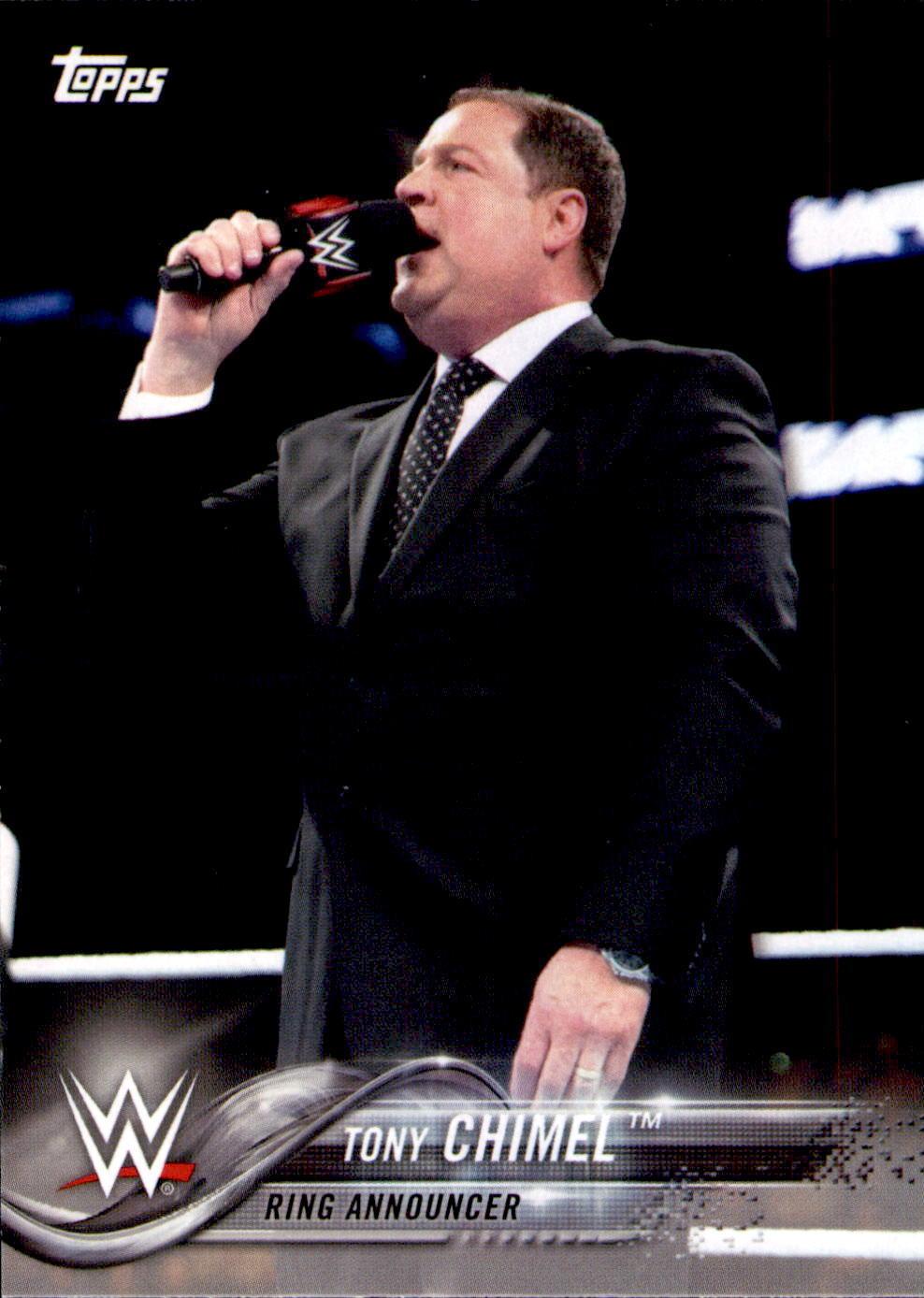 2018 WWE Wrestling Cards (Topps) Tony Chimel (No.93)