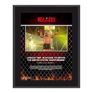 Bobby Lashley Hell In A Cell 2020 10x13 Commemorative Plaque