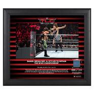 Daniel Bryan TLC 2018 15 x 17 Framed Plaque w Ring Canvas