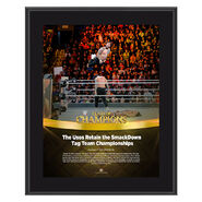 The Usos Clash of Champions 2017 10 x 13 Commemorative Photo Plaque