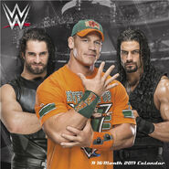 WWE Mini Calendar 2017