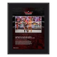 Charlotte Flair & Asuka TLC 2020 10x13 Commemorative Plaque