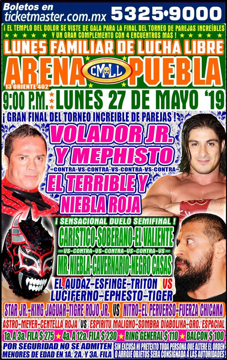 CMLL Lunes Arena Puebla (May 27, 2019)
