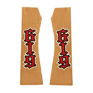 REY Mysterio GOLD RED ARM SLEEVES