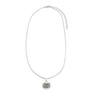 The Bellas Butterfly Silver Disc Necklace