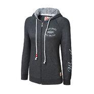 WrestleMania 30 Charcoal Grey Full-Zip Women's Hooded Sweatshirt