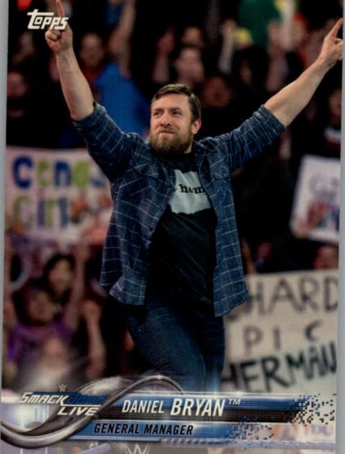 2018 WWE Wrestling Cards (Topps) Daniel Bryan (No.28)