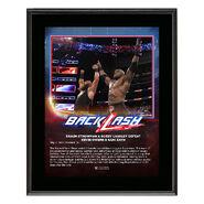Braun Strowman & Bobby Lashley BackLash 2018 10 x 13 Photo Plaque