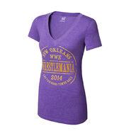 WrestleMania 30 Purple Women's V-Neck T-Shirt
