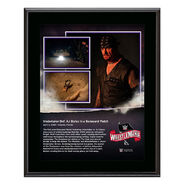 WrestleMania 36 Undertaker 10 x 13 Limited Edition Plaque