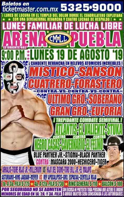 CMLL Lunes Arena Puebla (August 19, 2019)