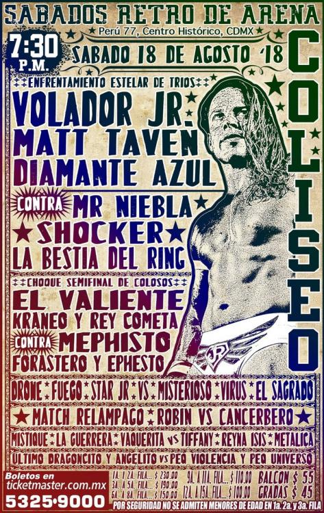 CMLL Sabados De Coliseo (August 18, 2018)