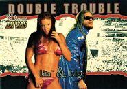 2003 Divine Divas (Fleer) Lita and Edge (No.82)
