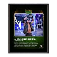 AJ Styles Money In The Bank 2016 10 x 13 Photo Plaque