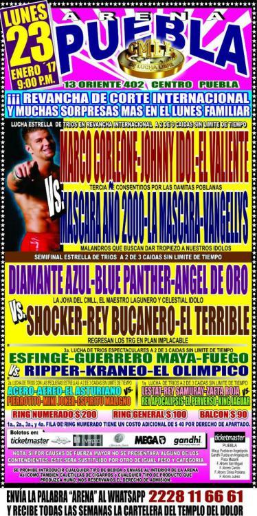 CMLL Lunes Arena Puebla (January 23, 2017)