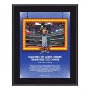 Damian Priest SummerSlam 2021 10x13 Commemorative Plaque